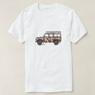 T-shirt with print of Defender in giraffe prints