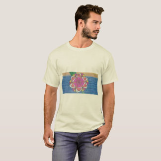 T-shirt with Print of Mandala