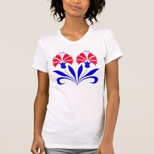 T-Shirt With Slovenian Carnations