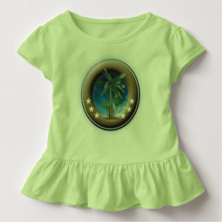 T-shirt with steering wheels for children, green