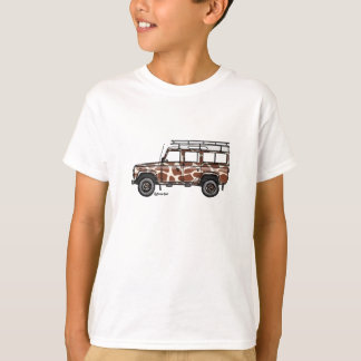 T-shirt with tough Defender in giraffe prints