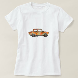 T-shirt with tropical flowers Trabi