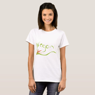 t-shirt with vegan message