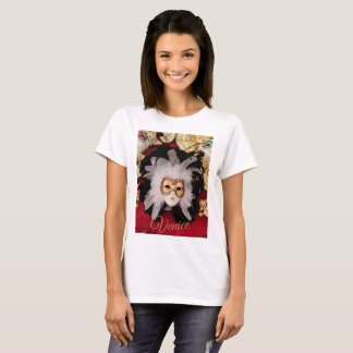 T-Shirt with White and Black Venetian Mask