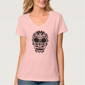 T-shirt woman Mexican Skull with roses