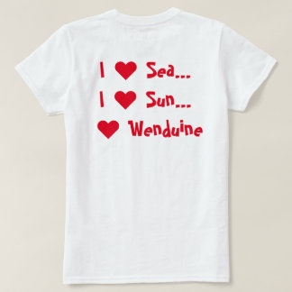 T-shirt women I ♥ Sea Sun Wenduine