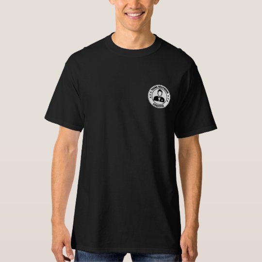 T-shirt Young Hollywood Lifestyle.Negra. Pocket