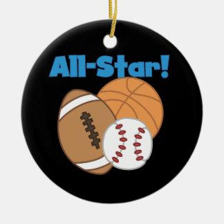 T-shirts et cadeaux d'All Star Ornement Rond En Céramique