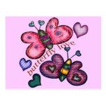 T-shirts et cadeaux d'amour de papillon pour elle carte postale