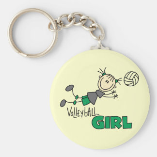 T-shirts et cadeaux de fille de volleyball porte-clé rond