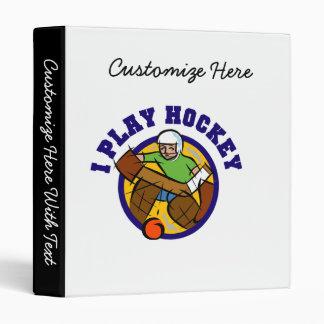 T-shirts et cadeaux de gardien de but d'hockey classeurs vinyle