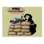 T-shirts et cadeaux de PMS pour elle Carte Postale