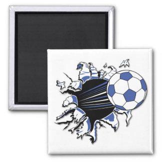 T-shirts et cadeaux d'éclat du football magnet carré