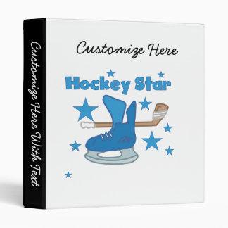 T-shirts et cadeaux d'étoile d'hockey classeurs 3 anneaux