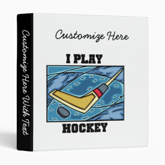 T-shirts et cadeaux d'hockey de jeu de galet et de classeur 3 anneaux