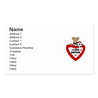 T-shirts et cadeaux d'ours du football carte de visite standard
