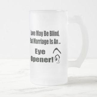 T-shirts et cadeaux drôles de mariage mug en verre givré