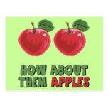 T-shirts et cadeaux drôles de pommes pour elle carte postale