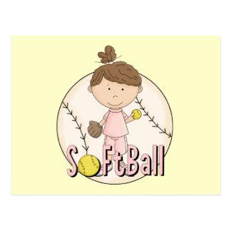 T-shirts et cadeaux du base-ball de filles cartes postales