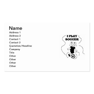 T-shirts et cadeaux du football de jeu de la fille carte de visite standard