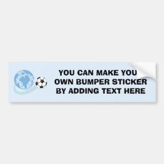 T-shirts et cadeaux du football du monde autocollant de voiture