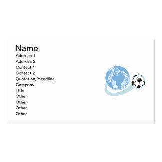 T-shirts et cadeaux du football du monde carte de visite standard