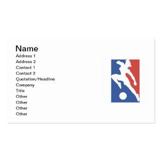 T-shirts et cadeaux femelles du football des carte de visite standard