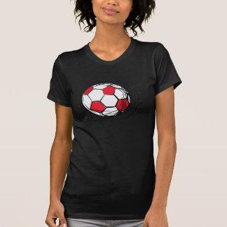 T-shirts et cadeaux rouges de ballon de football