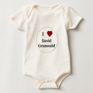 T-Shirts,  I love David Grunwald Button Baby Bodysuit