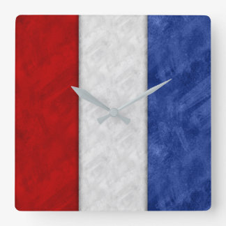 T Tango Watercolor Nautical Signal Maritime Flag Square Wall Clock