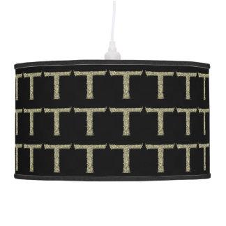 T - The Falck Alphabet Golden Hanging Lamps