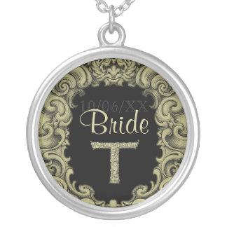 T - The Falck Alphabet Golden Wedding Pendant