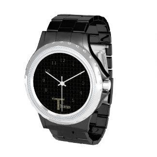 T - The Falck Alphabet Golden Wristwatch