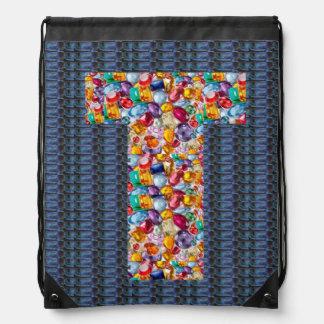 t tt ttt alpha initial name Birthday HappyBirthday Backpack