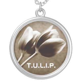 T.U.L.I.P. SILVER PLATED NECKLACE