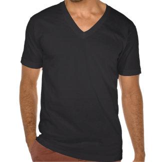 T V des hommes - noir de cou T-shirt