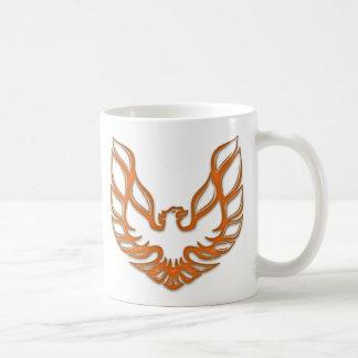 TA Orange Glass Mug - White