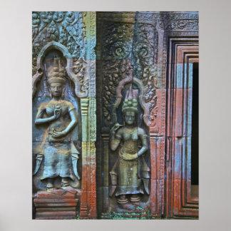 Ta Prohm Temple, Siem Reap Province, Cambodia Poster
