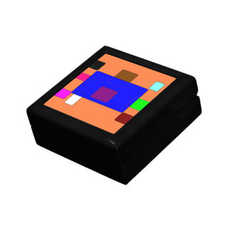 Tab – Colorful Abstract Art on Orange Background Gift Box
