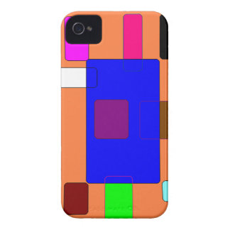 Tab – Colorful Abstract Art on Orange Background iPhone 4 Cover