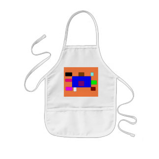 Tab – Colorful Abstract Art on Orange Background Kids Apron