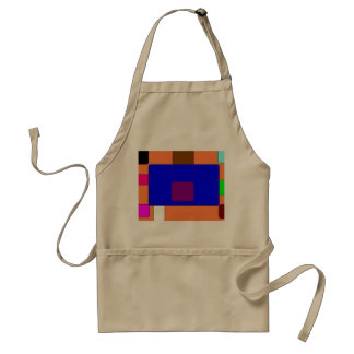Tab – Colorful Abstract Art on Orange Background Standard Apron