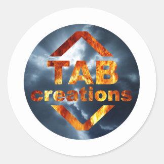 Tab Creations Logo Round Sticker