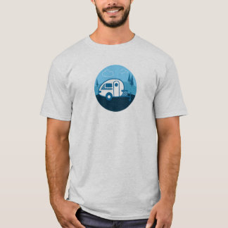 Tab Tear Drop Trailer Retro T-Shirt