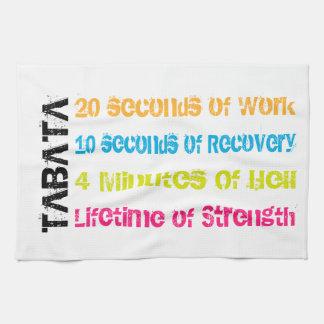 Tabata Workout Kitchen Towel