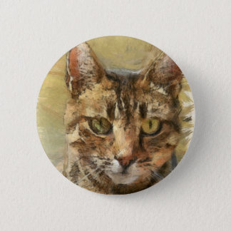 Tabby Cat 2 Inch Round Button