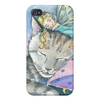 Tabby Cat and Fairy iPhone 4 Case
