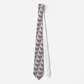 Tabby Cat and Snail Tie
