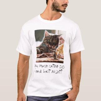 Tabby Cat bird Catnip Hangover t-shirt