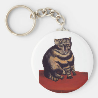 Tabby Cat by Henri Rousseau Basic Round Button Keychain